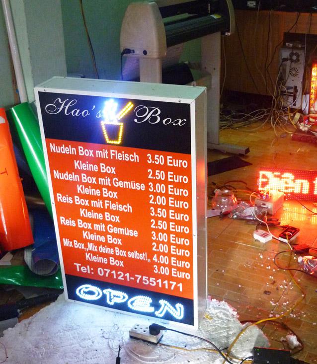 Làm biển quảng cáo hộp đèn tại Ninh Bình